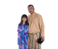 Malay Father And Daughters II Stock Image