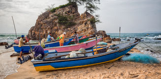 Malay Fisherman Royalty Free Stock Photography