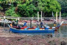 Malay Fisherman. Tanjung Dawai, Kedah, Malaysia Stock Photos