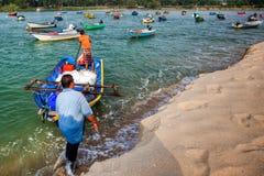 Malay Fisherman, Malaysia. Kijal, Trengganu, Malaysia Royalty Free Stock Photography