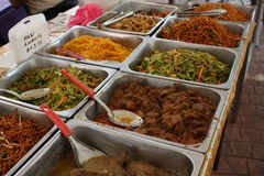 Malay food. Variety food , good looking and attractive colours Royalty Free Stock Photos