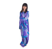 Malay Girl In Purple Traditional Dress I Royalty Free Stock Photography
