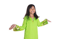 Malay Girl In Traditional Dress II Stock Photos