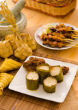 Malay hari raya foods lemang ,focus on lemang Royalty Free Stock Photography