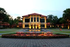 Malay Heritage Centre Singapore. The handsome Malay Heritage Centre, set in a lovely park with a fountain, is housed in an opulent home built for a sultan in Stock Images