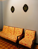 Malay house Interior in retro style Stock Images