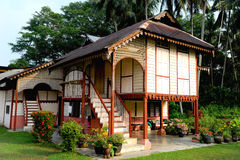 Malay houses. Are traditional dwellings, originating before the arrival of foreign or modern influences, and constructed by the indigenous ethnic Malay of the royalty free stock photography