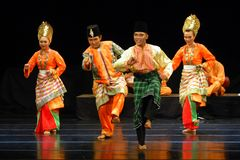 MALAY INDONESIAN DANCE Royalty Free Stock Photos