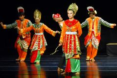 MALAY INDONESIAN DANCE Stock Images