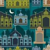 Malay Islam building seamless pattern Stock Photos