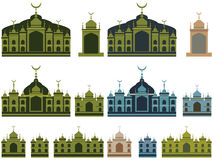 Malay Islam building set color Royalty Free Stock Photo