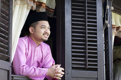 Malay muslim man smile Royalty Free Stock Image
