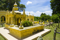 Malay Royalty Graves, Jugra. Over a century old malay muslim royalty graves located at the old royal town of Jugra, Selangor, Malaysia royalty free stock photo