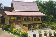 Malay rural house Royalty Free Stock Images