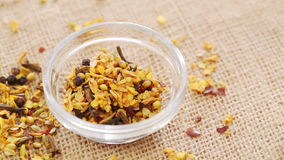 Malay spices mix on rotating stand; closeup,. HD 1080 static: Malay spices mix on rotating stand; closeup stock footage