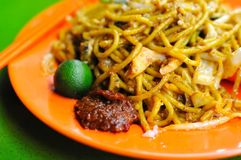 Malay Style Fried Noodles Stock Photo