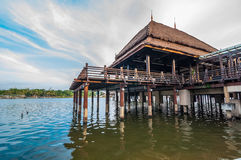 Malay traditional building on stilts Stock Photo