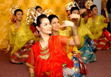 Malay traditional dance Stock Image
