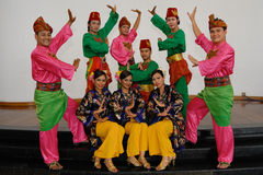 Malay Traditional Dance Royalty Free Stock Photography