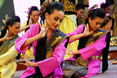 Malay Traditional Dance Stock Images