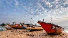 Malay Traditional Fishing Boats. Kijal, Trengganu, Malaysia Stock Photos