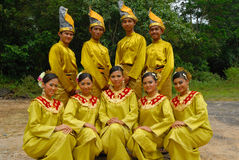 Malay traditional outfits Royalty Free Stock Photos