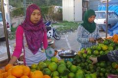Malay vegetable market Royalty Free Stock Image