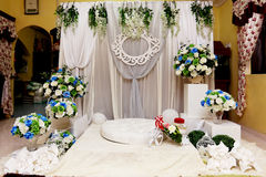 Malay Wedding Altar Stock Images