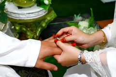Malay wedding ceremony Stock Photos