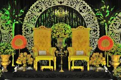 Malay wedding chair and stage decoration Stock Image