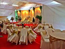 Malay wedding decor in Singapore Royalty Free Stock Photo