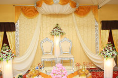 Malay wedding stage Royalty Free Stock Image
