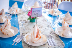 Malay Wedding Table Arrangement Stock Image