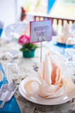 Malay Wedding Table Arrangement Stock Photo