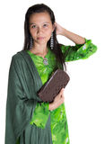 Malay Woman With A Brown Purse III Stock Image