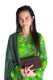 Malay Woman With A Brown Purse IV Stock Images