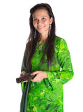 Malay Woman With A Brown Purse VI Stock Images