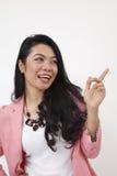 Malay woman showing Stock Photos