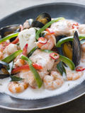 Malaya fish Curry with Coconut Royalty Free Stock Images