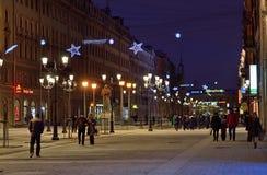 Malaya konyushennaya street in Petersburg, Russia Royalty Free Stock Photography