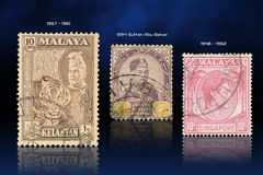 Malaya stamps Royalty Free Stock Photography