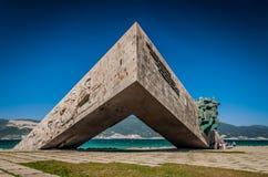 Malaya Zemlya - objet de monument pour la mémoire pendant l'année de victoire de guerre en 1945 images libres de droits