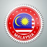 Malayan flag label Stock Image