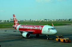 Malaysia airline Air Asia Airbus plane at Ho Chi Minh airport Vietnam Stock Images