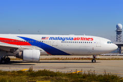 Malaysia Airlines à Osaka, Japon image stock