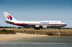 Malaysia Airlines Боинг Стоковые Фотографии RF