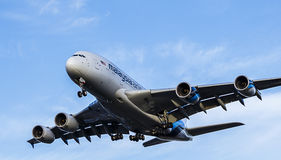 Пассажирский самолет Malaysia Airlines a380 airbus Стоковая Фотография