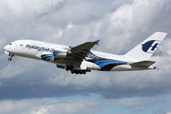 Malaysia Airlines Airbus A380 airplane Stock Images