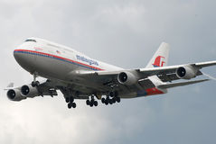 Malaysia Airlines B747 royalty free stock photography