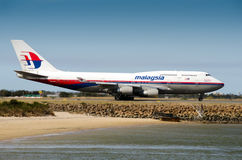 Malaysia Airlines Boeing Royalty-vrije Stock Foto's
